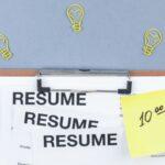 Flat lay resume